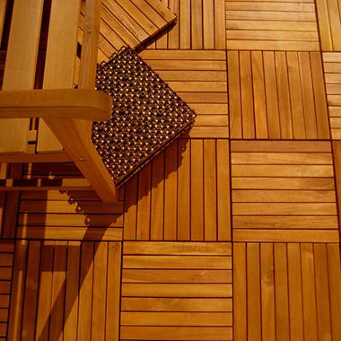 Interlocking Wood Deck Tile FSC Eucalyptus-10 pk.