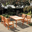 Eucalyptus Dining Set - 5 pc. - FSC Certified