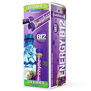 Zipfizz Energy/Sports Drink Mix-Grape