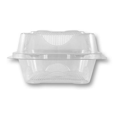 World Centric Compostable/Biodegradable Fiber Hinged 1 Compartment To-Go Boxes (250 ct.)
