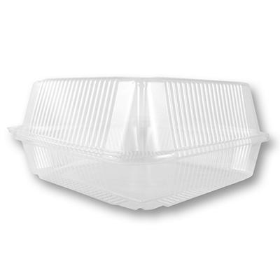 World Centric Compostable/Biodegradable Plastic Hinged 1 Compartment Togo Boxes (250 ct.)