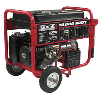 Gentron 10,000 Watt Portable Gas Generator with Electric Start
