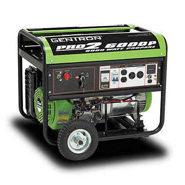 Gentron 6000 Watt Propane Generator with Electric Start