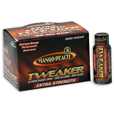 Mango Peach Energy Shot Extra Strength - 12 Count Box