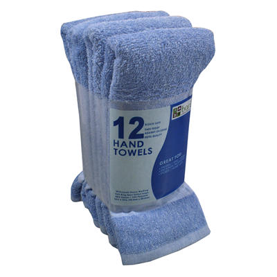 "Hand Towels - Blue - 16"" x 27"" - 12 pk."