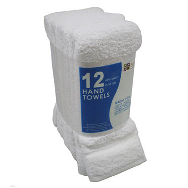 "Hand Towels - White - 16"" x 27"" - 12 pk."