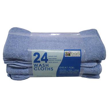 Washcloths - Blue - 12