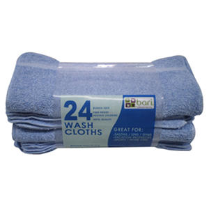 "Washcloths - Blue - 12"" x 12"" - 24 pk."