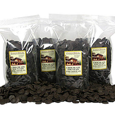 Chocolate Fountain Dark Chocolate Wafers - 4 pk.