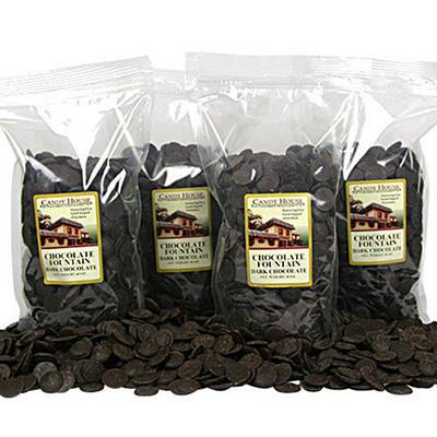 Chocolate Fountain Dark Chocolate Wafers - 4 pk.