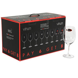 Riedel Vinum Cabernet Sauvignon Glasses, Set of 8