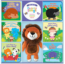 Bath books with built-in squeakers, cloth books with crinkle sounds, and colorful board books are the perfect way to introduce favorite children's songs to babies. The soft plush pal is sure to become a child's favorite.
