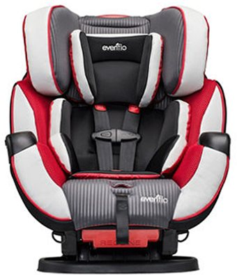 Find a convertible car seat that holds up to 80 pounds and carries your child from infant through toddler stage.