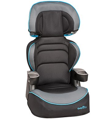 Find a booster seat to raise your child up so the seatbelt fits just right. Choose high back or backless.