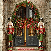 give guests a royal welcome use our life size nutcracker to greet guests on your front porch or entryway at 6 feet tall he makes a great first impression