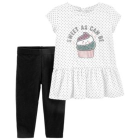 Carters 2-Piece Girl's Playwear Set