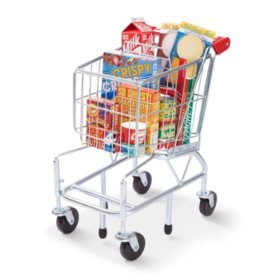 Melissa & Doug Grocery Shopping Cart, Groceries & Pretend Money Play Set (70 Pcs.)