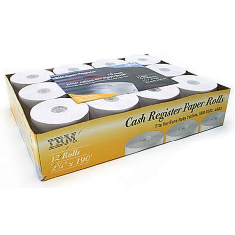IBM 2-3/4in x 190ft Bond Paper Rolls - 12pk