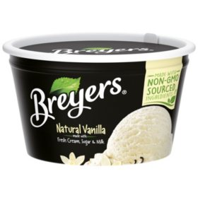 Breyers Natural Vanilla Ice Cream Snack Cups (24 ct., 3 oz ...