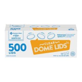Member's Mark Dome Cup Plastic Lids - 12, 16, 20, 24 oz. (500 ct.)