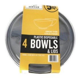 Member's Mark Plastic Bowls with Lids - 4 pc.