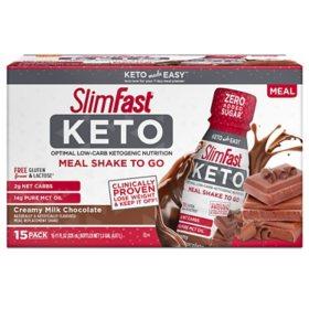 SlimFast Keto Ready-To-Drink Chocolate (15 pk.)