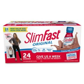 SlimFast Original Creamy Milk Chocolate Ready to Drink Meal Replacement Shakes (11 fl. oz., 24 pack)