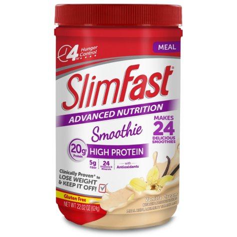 SlimFast Advanced Vanilla Cream Smoothie Mix, 22.02 oz