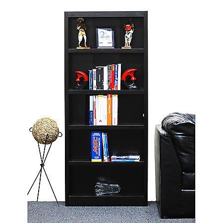 A. Joffe 5-Shelf Single Wide Bookcase, Select Color