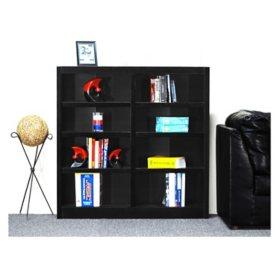A. Joffe 8-Shelf Double Wide Bookcase, Select Color