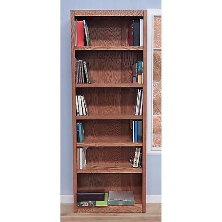 A. Joffe 6-Shelf Single Wide Bookcase, Select Color