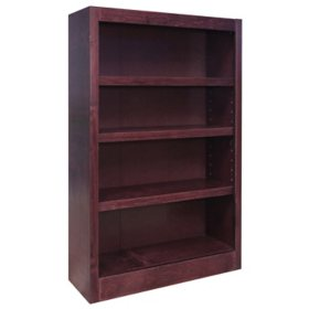 A. Joffe 4-Shelf Single Wide Bookcase, Select Color