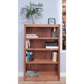 A. Joffe 4-Shelf Single Wide Bookcase, Select Color