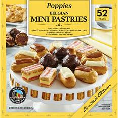 Poppies Belgian Mini Pastries Dessert Assortment (30.86 oz., 52 ct.)