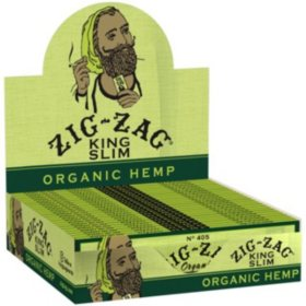 Zig-Zag Organic Hemp Rolling Papers King Slim (24 books)