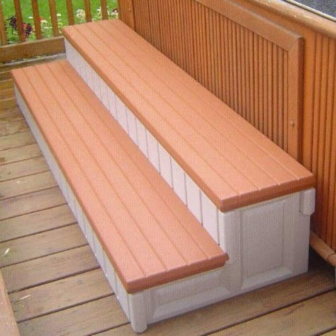 Spa Step - Redwood Accent - 74""