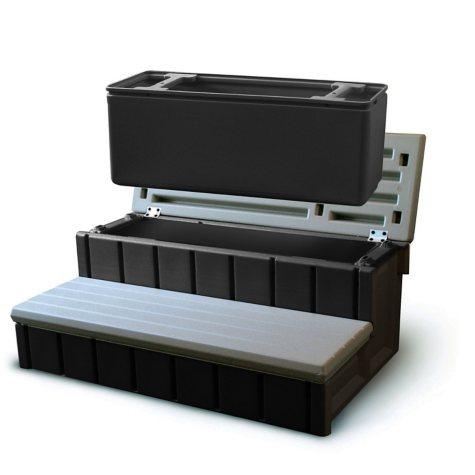 "Spa Storage Step & Cooler - 36"" - Gray"