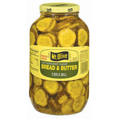 Mt. Olive Bread & Butter Pickle Slices - 2 qt. jar