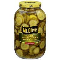 Mt Olive Fresh Kosher Hamburger Dill Chips (64 oz.)