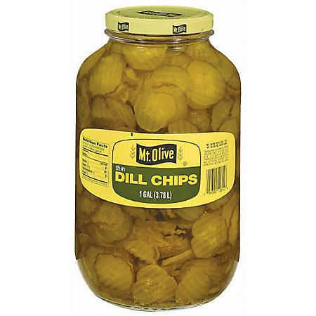 Mt. Olive Thin Dill Chips - 1 gal. jar