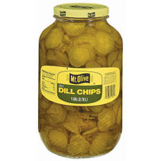 Mt. Olive Thin Dill Chips - 1 gal. jar