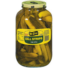 Mt. Olive Kosher Dill Strips - 1 gal. jar