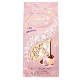 Lindt Lindor Neapolitan White Chocolate Truffles (19 oz.)