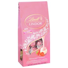 Lindt Strawberries and Cream White Chocolate Truffles (19oz.)