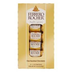 Ferrero Rocher Hazelnut Chocolates (1.3 oz., 12 pk.)