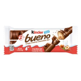 Kinder Bueno Milk Chocolate and Hazelnut Cream Candy Bar (1.5oz / 20pk)