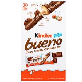 Kinder Bueno Milk Chocolate and Hazelnut Cream Candy Bar (1.5oz / 20pk)