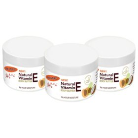 Palmer's Natural Vitamin E Body Butter Jar (7.25 oz. 3 pk.)