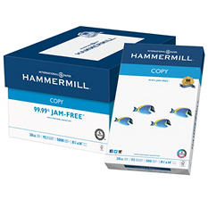 "Hammermill Copy Paper, 20lb, 92 Bright, 8 1/2"" x 14"", 5,000 Sheets"