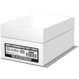 "White Box Copy Paper, 20 lb., 92 Bright, 8.5 x 11"" - 10 Ream Case"